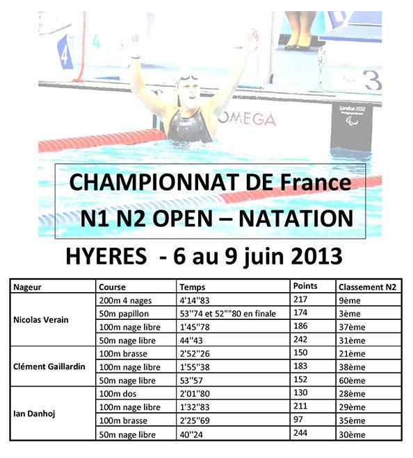 CHAMPIONNATS DE FRANCE 2013 NATATION dans Championnats de Natation resultats-hyeres